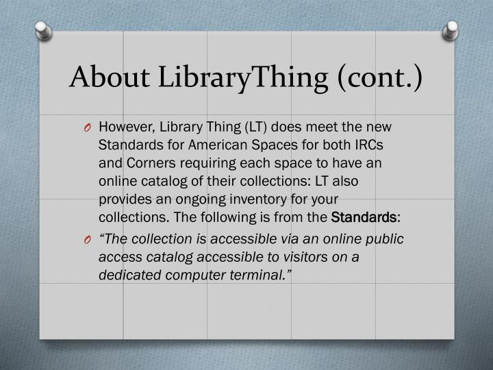 About librarything cont