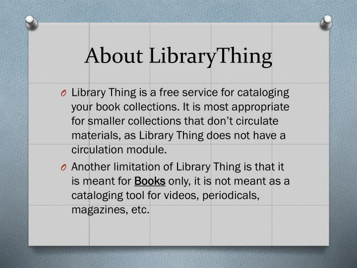 About librarything