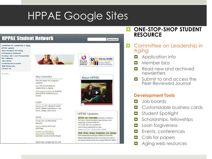 HPPAE Google Sites