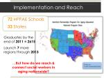 implementation and reach