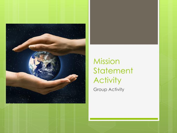 Mission Statement Activity