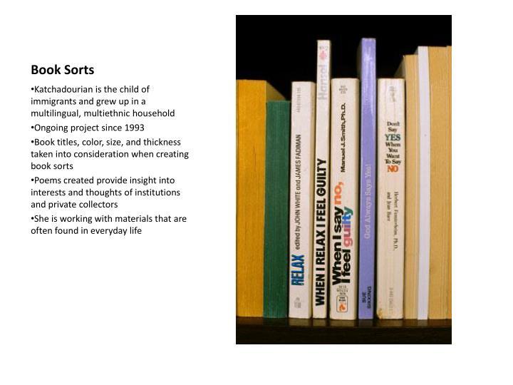 Book Sorts