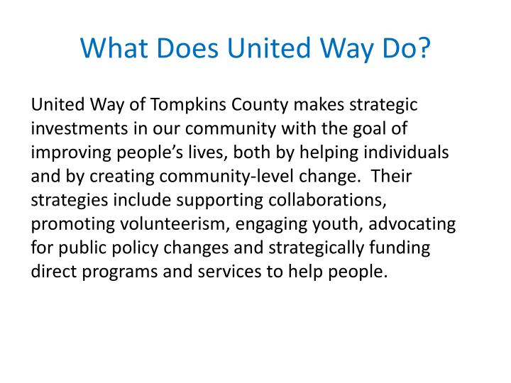 What does united way do