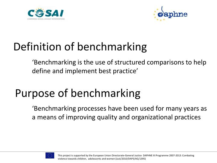 Definition of benchmarking