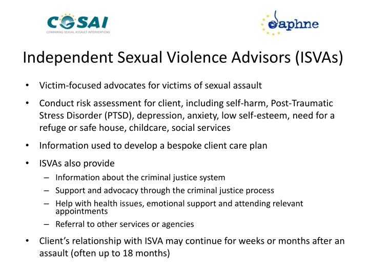 Independent Sexual Violence Advisors (ISVAs)