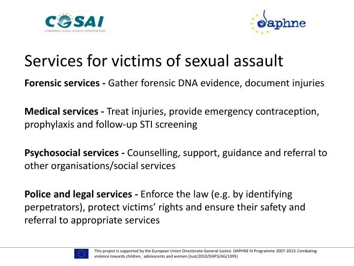 Services for victims of sexual assault