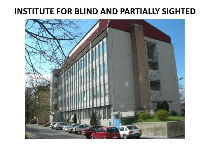 INSTITUTE FOR BLIND AND PARTIALLY SIGHTED CHILDREN (ZSSM),