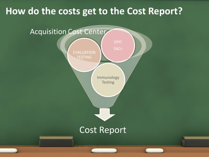How do the costs get to the Cost Report?