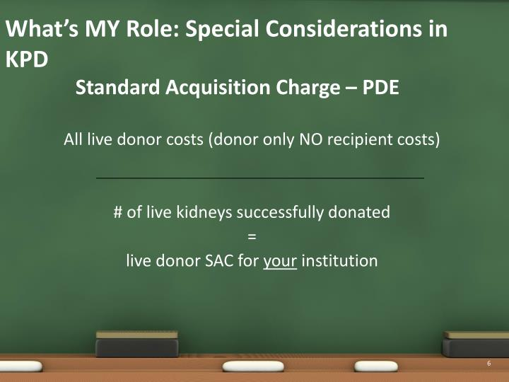 Standard Acquisition Charge – PDE