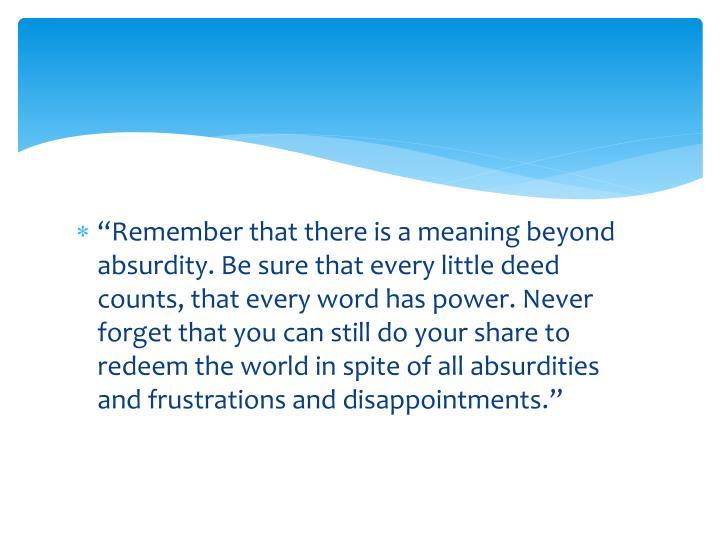 """Remember"