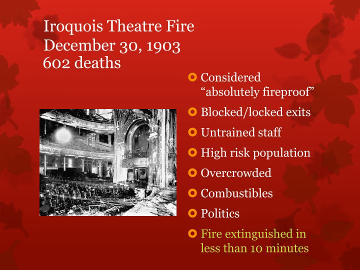 Iroquois Theatre Fire