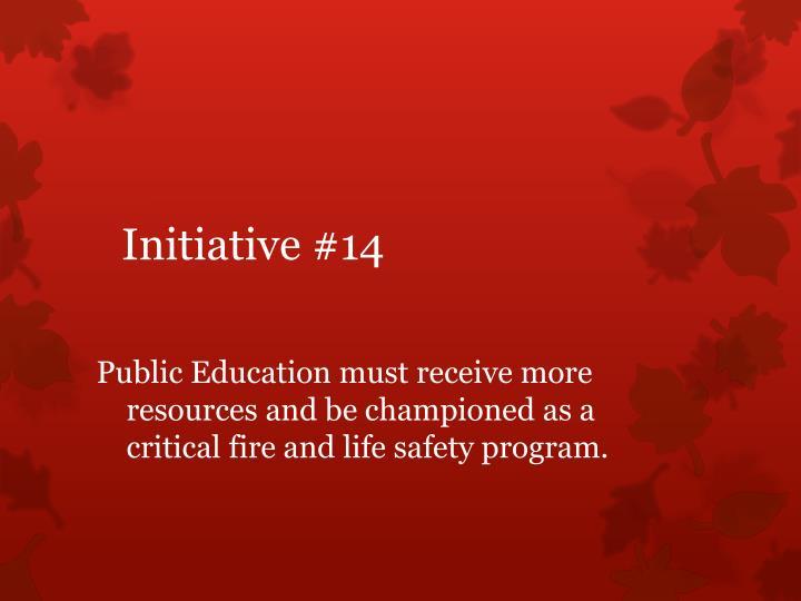 Initiative #14