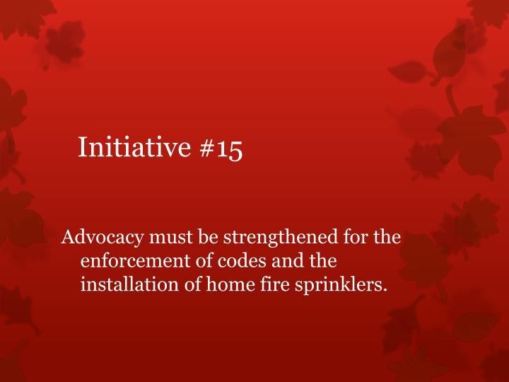 Initiative #15