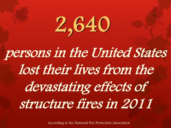 persons in the United States lost their lives from the devastating effects of