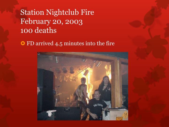 Station Nightclub Fire