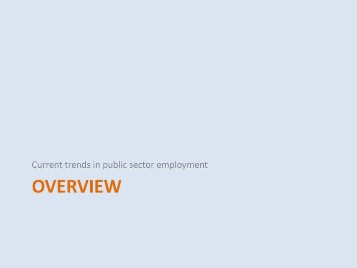 Current trends in public sector employment
