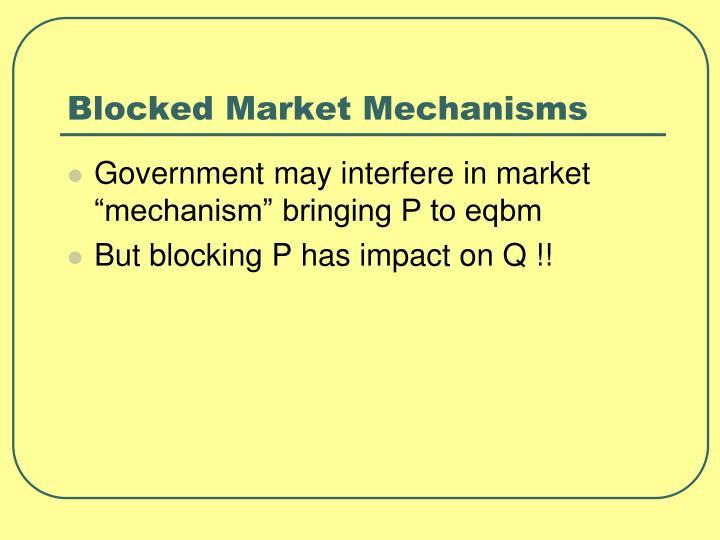 Blocked Market Mechanisms