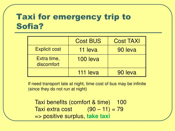 Taxi for emergency trip to Sofia?
