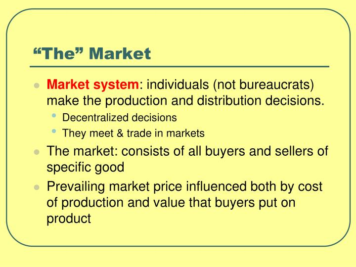 """The"" Market"
