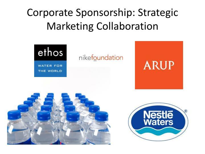 Corporate Sponsorship: Strategic Marketing Collaboration