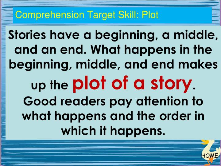 Comprehension Target Skill: