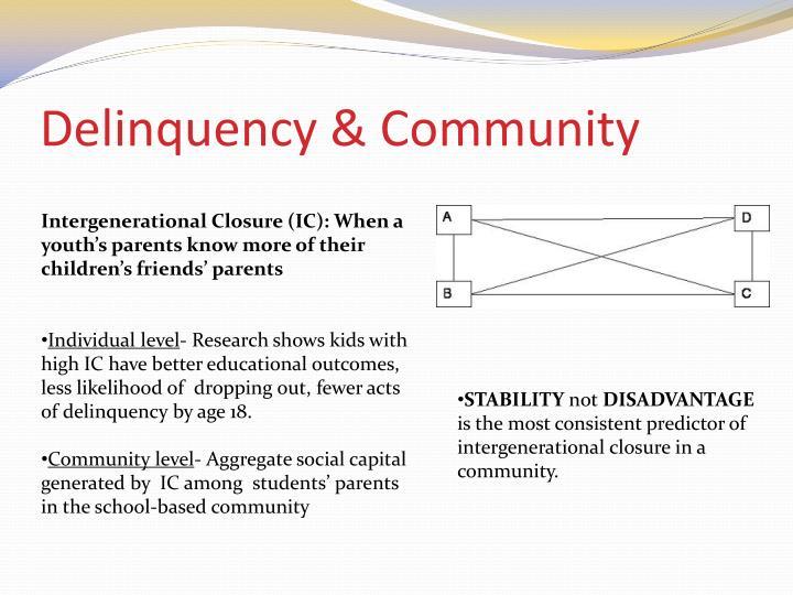 Delinquency & Community