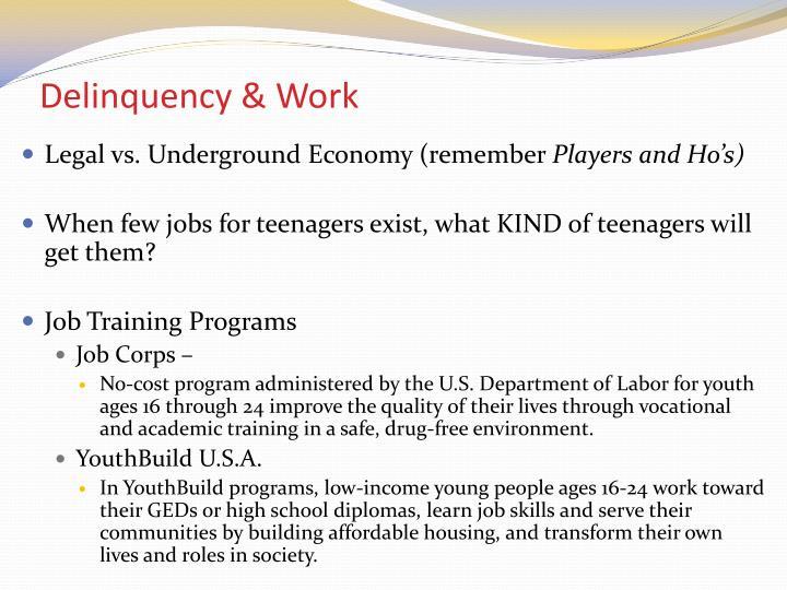 Delinquency & Work