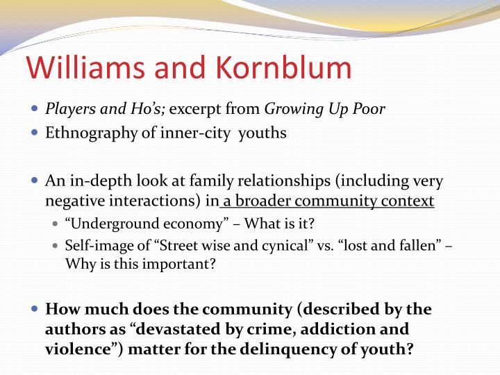 Williams and Kornblum