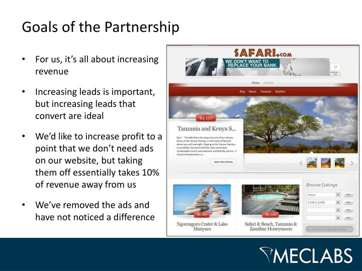 Goals of the Partnership