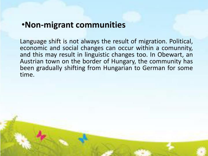 Non-migrant communities