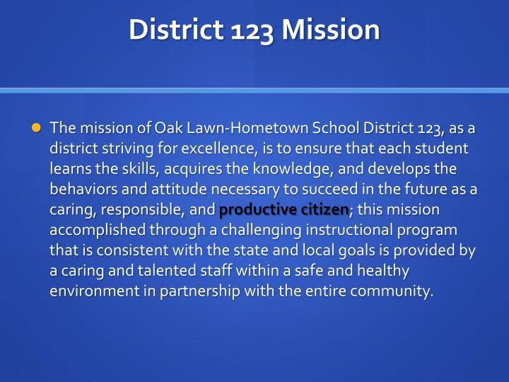District 123 Mission