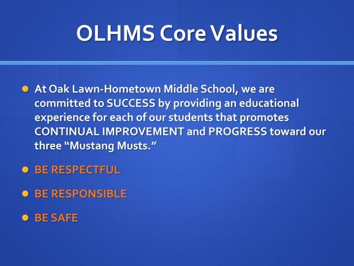 OLHMS Core Values