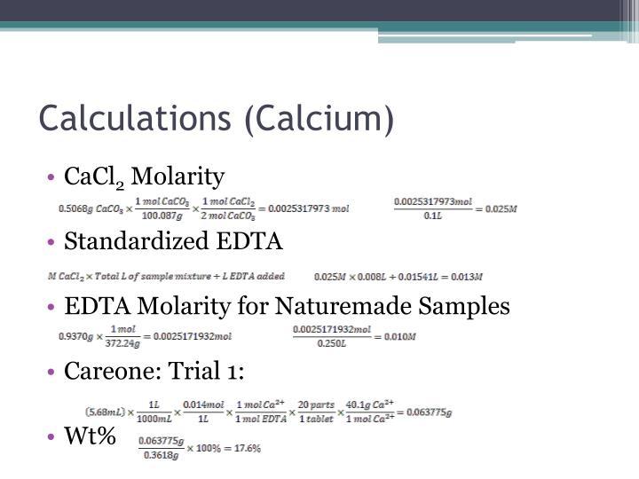 Calculations (Calcium)