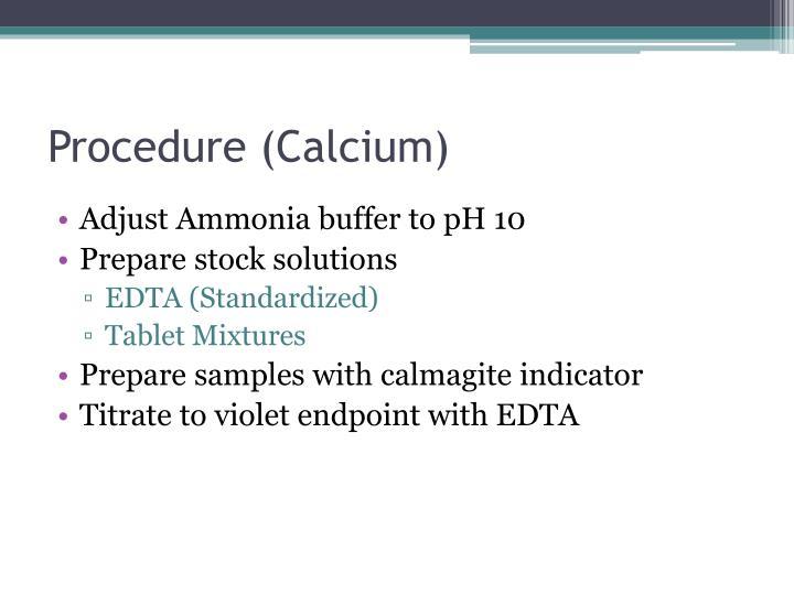 Procedure (Calcium)