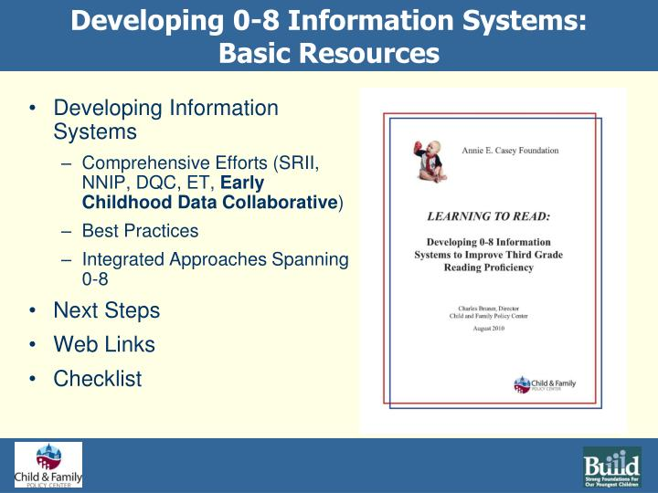 Developing 0-8 Information Systems: