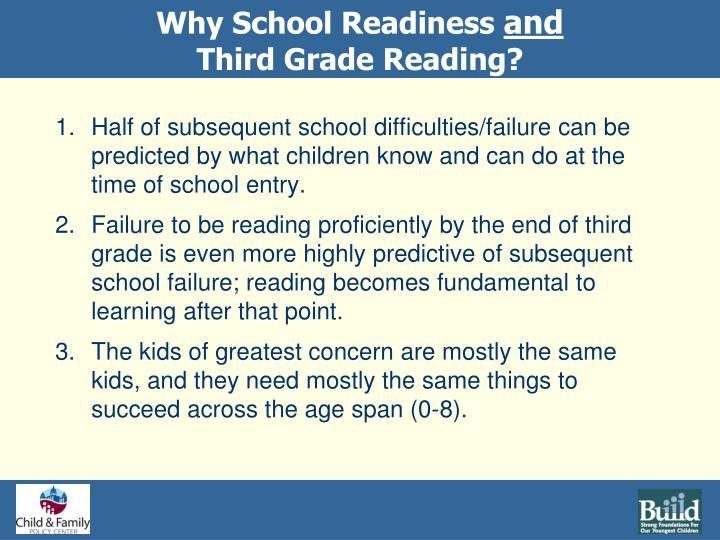 Why School Readiness