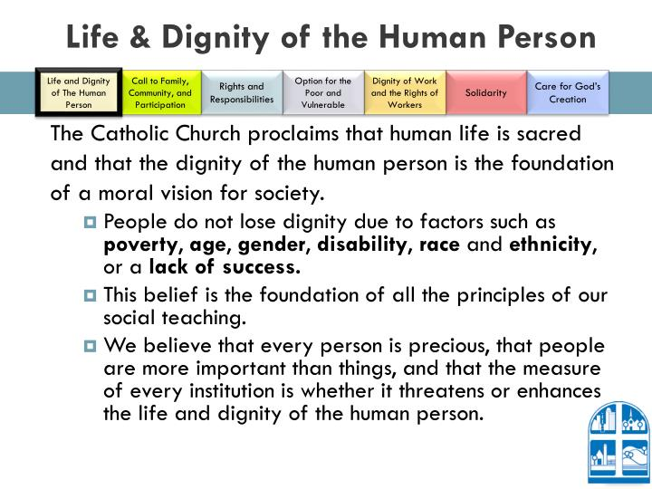 Life & Dignity of the Human Person