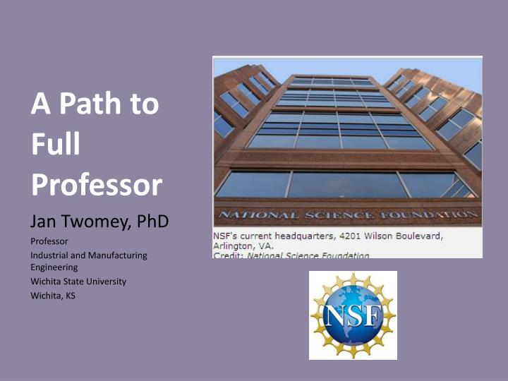 A Path to Full Professor