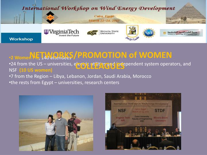 NETWORKS/PROMOTION of WOMEN COLLEAGUES