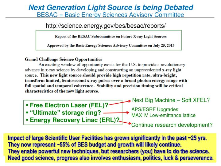 Next Generation Light Source is being Debated