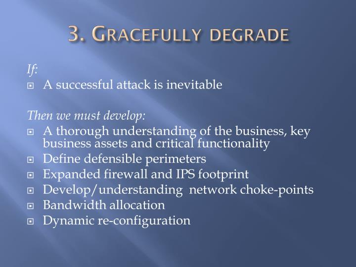 3. Gracefully