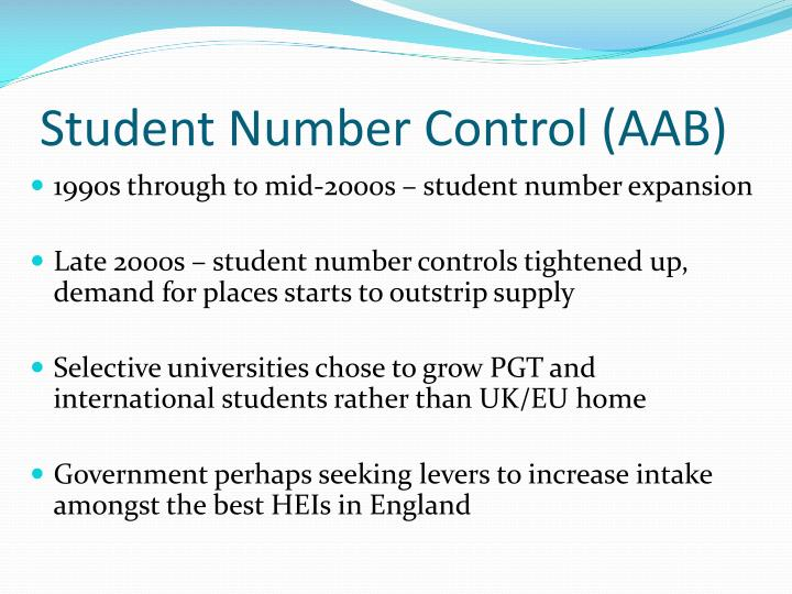 Student number control aab
