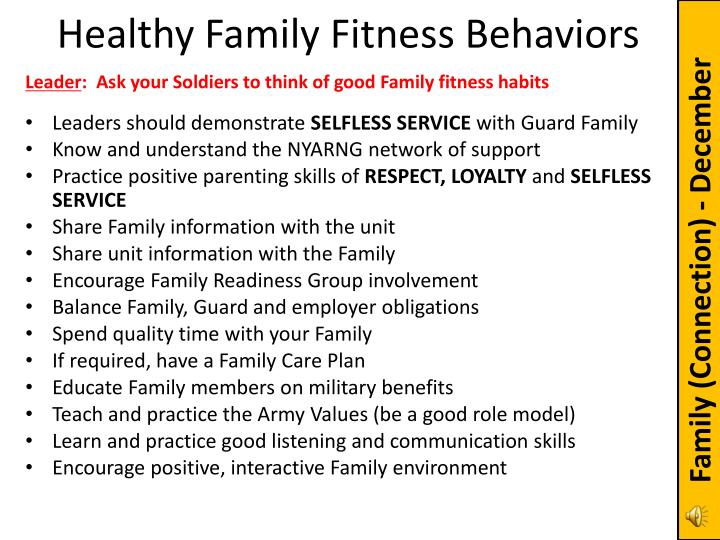 Healthy Family Fitness Behaviors