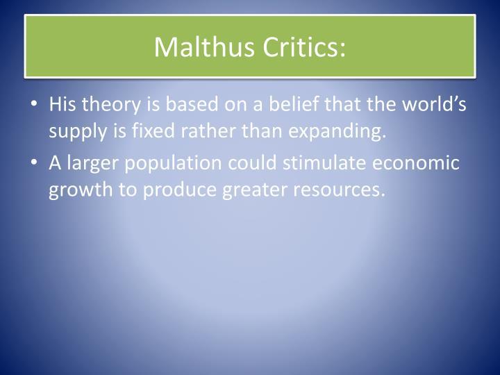 Malthus Critics: