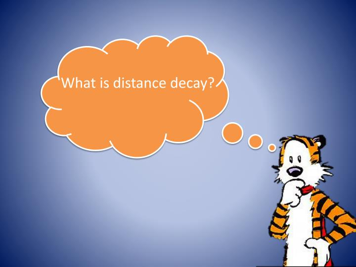 What is distance decay?