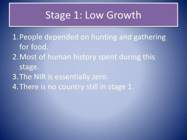 Stage 1: Low Growth