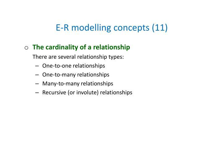 E-R modelling concepts (11)