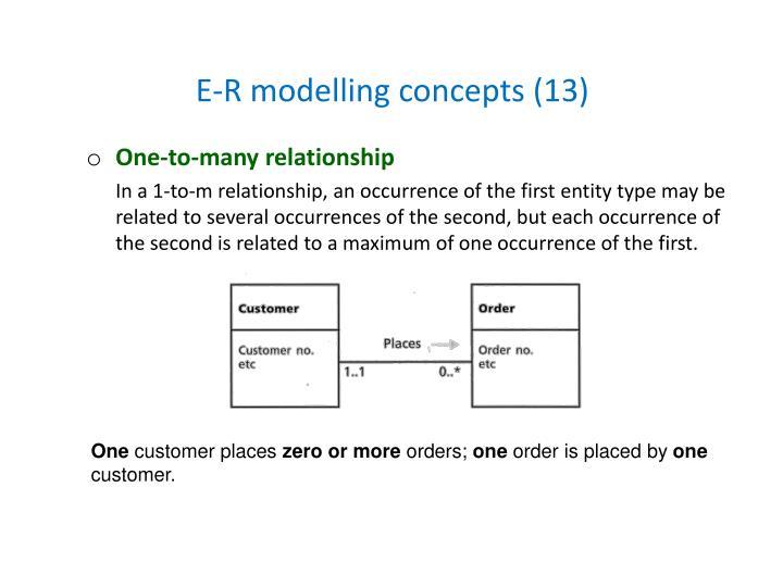 E-R modelling concepts (13)