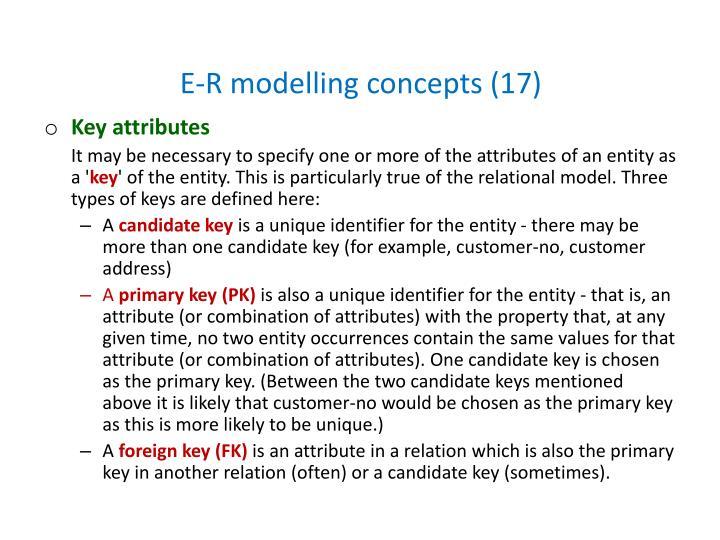 E-R modelling concepts (17)