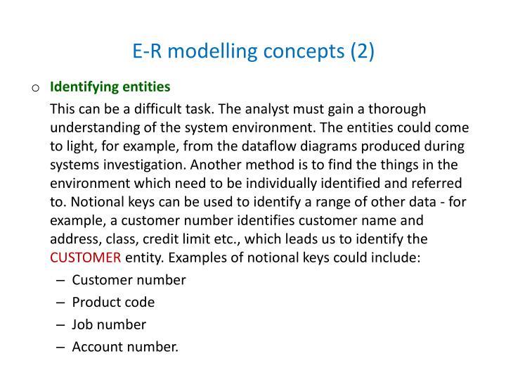 E-R modelling concepts (2)